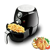 BuyYourWish 2.8L Black Oilless Electric Air Fryer Low Fat Detachable Basket Baking Kitchen One Piece