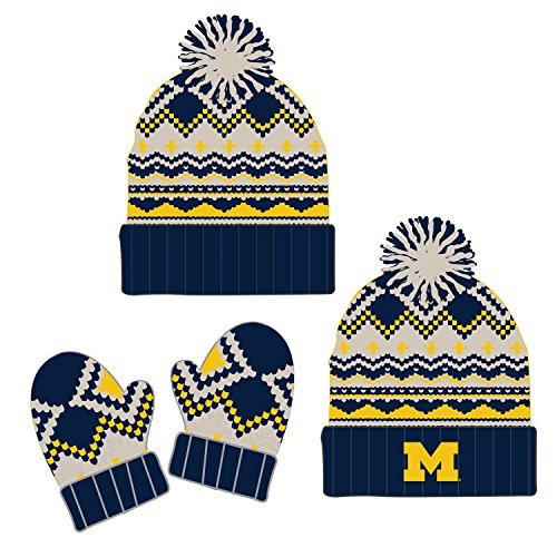 Top of the World Knitted University of Michigan Wolverines Toddler Beanie and Glove Set