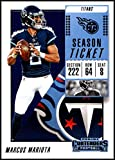 2018 Contenders NFL Season Ticket (Base) #4 Marcus Mariota Tennessee Titans Official Football Trading Card made by Panini