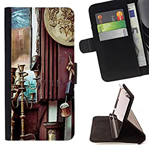 - Hello October - - Monedero PU titular de la tarjeta de cr?dito de cuero cubierta de la caja de la bolsa FOR Sony Xperia Z1 L39 Retro Candy