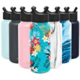 Simple Modern 32oz Summit Water Bottles with Straw Lid - Vacuum Insulated Tumbler Double Wall Travel Mug 18/8 Stainless Steel Flask - Pattern: Molokai