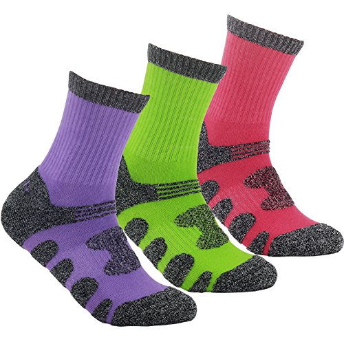 YUEDGE-3-Pairs-Womens-Multi-Performance-Hiking-Trekking-Walking-Running-Crew-Cotton-Socks