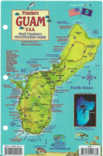 Guam Dive Map & Reef Creatures Guide Franko Maps Laminated Fish Card