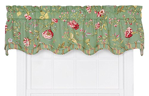 - Ellis Curtain Coventry Medium Scale Floral Bradford Valance, Green