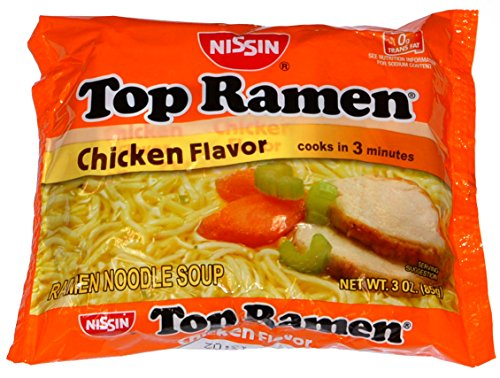 Top Ramen Chicken Flavor Ramen Noodle Soup - 48 Pack (Nissin Chicken Ramen compare prices)
