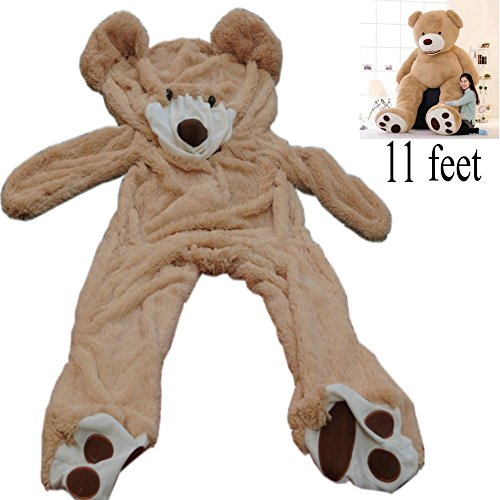 11 Ft (133 inch) Giant Teddy Bear Cover Light Brown Valentine's Day Present