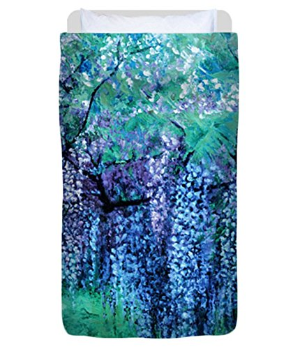 The Wind Whispers Wisteria, Ocean - Duvet Cover, Twin by Julie Turner Gallery: Home Decor, etc.