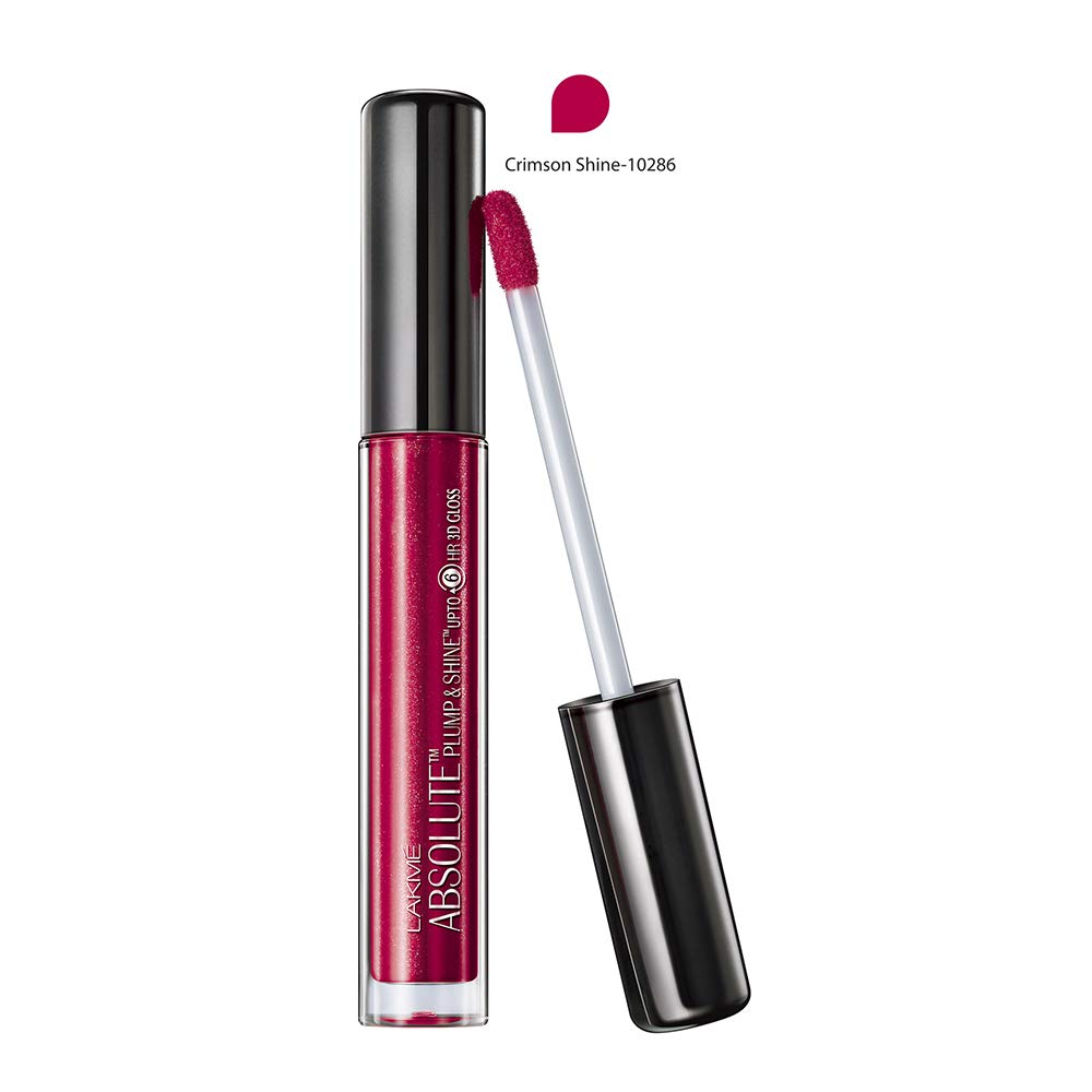 Lakme Absolute Plump & Shine Lip Gloss, Crimson Shine, 3ml