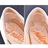 1Pair Silicone Shoe High Heel Dance Insole Pad Cushion Gel Grips Foot Protectorn,Heel Repair Caps Heel Replacement Caps.Reduce Noise and Anti-Slip (Red)