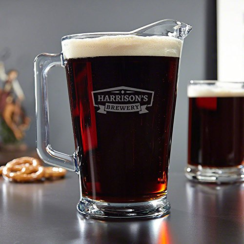 Classic Brewery Personalized Glass Beer Pitcher (Custom Product)