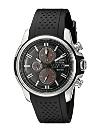 Citizen Men's CA0420-07E AR 2.0 Eco-Drive Stainless Steel Chronograph Black Dial Watch