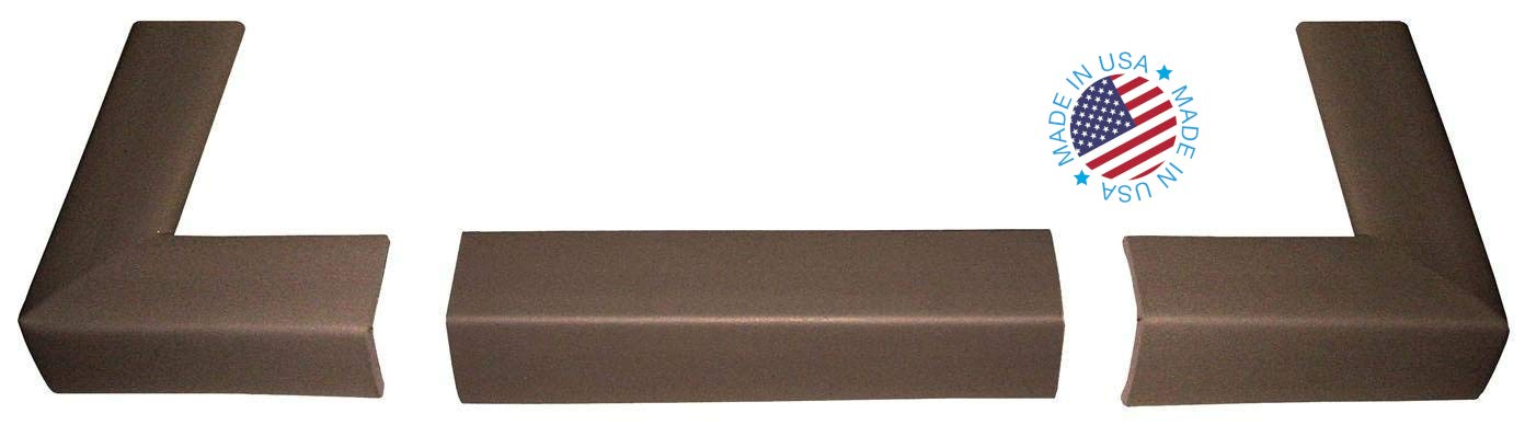 Kidkusion Fire Place Bumper Pad, Brown