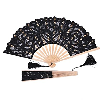 Remedios Vintage Cotton Lace Tassle Hand Fan for Photo Props Decoration new