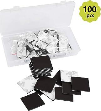 TIMESETL 100 Piezas láminas magnéticas 20 mm x 20 mm x 1,2 mm ...
