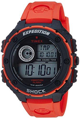 - Timex Men's T499849J Expedition Digital Display Quartz Red Watch