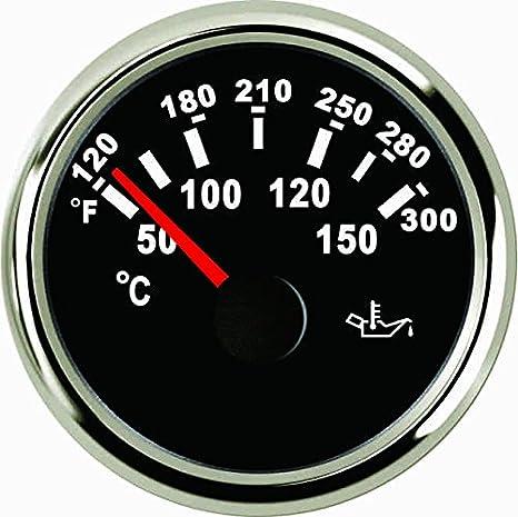 Misuratore di temperatura dell olio 50-150℃ 52MM 9-32V con retroilluminazione
