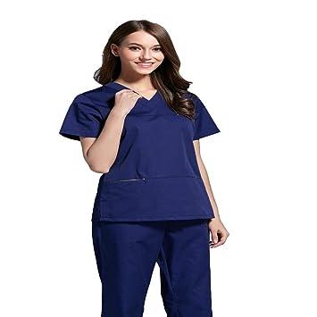 OPPP Ropa médica Clínica Dental del Hospital Enfermera de Lavado de Ropa Femenina Traje de Cepillo