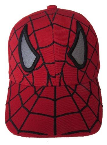 Kid's Youth Spider Man Hat - Adjustable Baseball Cap (Red Spider Eyes)