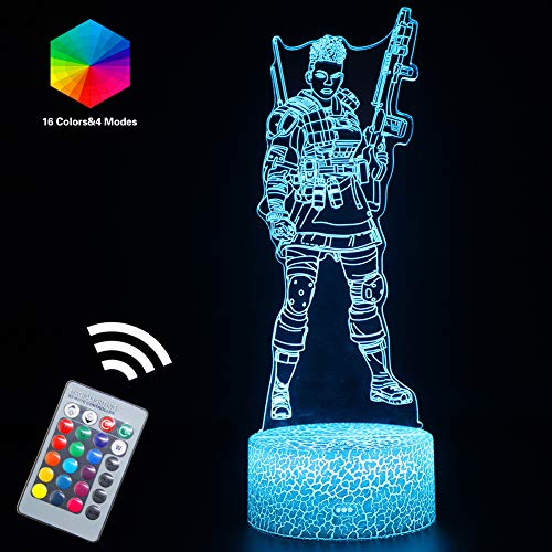Apex Nursery Light 3D LED Mood Night Lights Lamp Remote Controlled USB or Batteries Powered with 16 Colors Changeable,Cool Gift Bday Party Gifts Desk Table Lamps(Bangalore(Remote))
