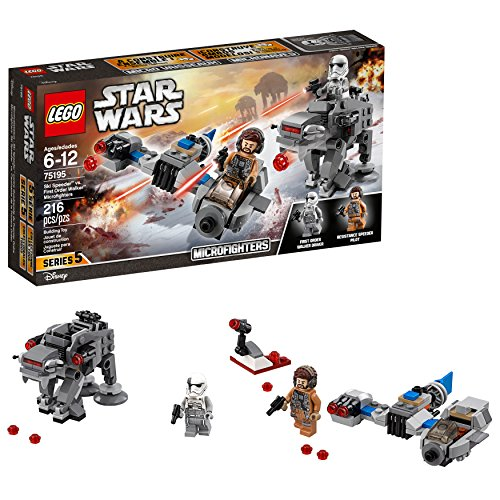 Lego Star Wars  The Last Jedi Ski Speeder Vs  First Order Walker Microfighters 75195 Building Kit  216 Piece