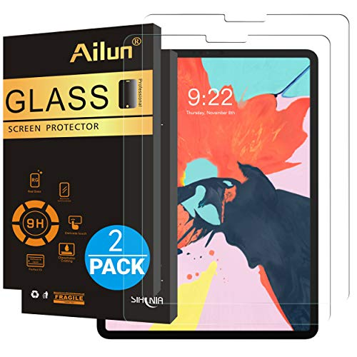 Ailun Screen Protector Compatible iPad Pro 11 Inch Display 2018 Release 2Pack 2.5D Tempered Glass Apple Pencil Compatible Anti Scratch Case Friendly