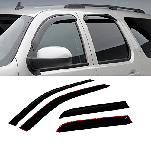 Vent Expedition Ford - VIOJI 4pcs Dark Smoke Outside Mount Style Sun Rain Guard Vent Shade Window Visors Fit 97-15 Ford Expedition / 98-15 Lincoln Navigator