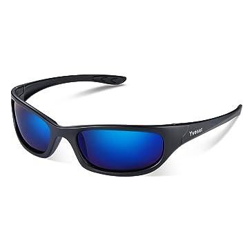 49ba58d50fd641 Yveser Polarisierte Sonnenbrille, Sportbrille mit UV400 Schutz für Damen &  Herren - Autofahren Laufen Radfahren