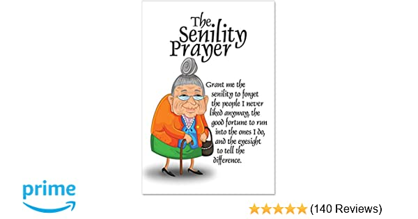Amazon Senility Prayer Unique Funny Birthday Card With Envelope 9046 Office Products