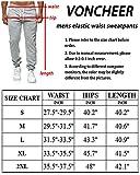 Voncheer Mens Elastic Waist Drawstring Sweatpants