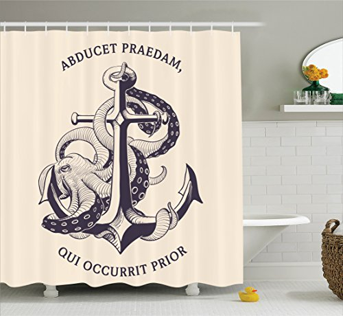 beige and blue shower curtain - 8