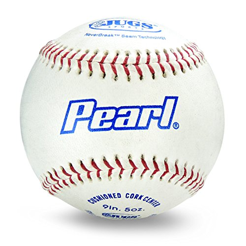Jugs Pearl Leather Baseballs (One Dozen) ()