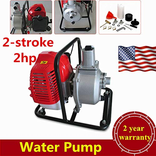 Petrol 2-Stroke Water Pump Water Transfer Pump Engine, NOPTEG 2HP 43CC Air-Cooled Gasoline 7000rmp for Irrigation Pool, Landscaping or Gardening Irrigation