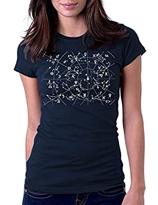 Women's 12 Constellations of Zodiac Signs Astrology Tee T-Shirt