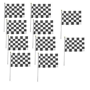 10x milopon bandera para Damier Hampe fórmula 1Flag para Racing Sport