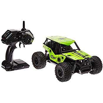 The King Cheetah Turbo Remote Control Toy Green Rally Buggy RC Car 2.4 GHz 1:16 Scale Size w/ Working Suspension, Spring Shock Absorbers