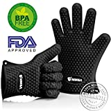 old runescape - Cooking Gloves Heat Resistant Thick 100% Waterproof Heat Resistant Silicone Gloves, Ideal for BBQ Grill Oven Potholder Pizza Oven Baking Smoking Camping.