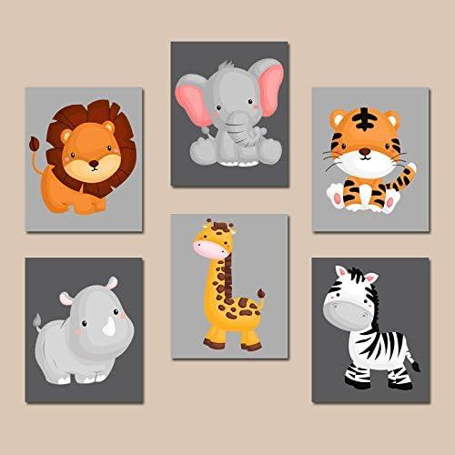 Safari Animals Sports Nursery Decor Navy Blue Baby Boy Bedroom Decor Future All Star Lion Monkey Giraffe Elephant PRINTS or CANVAS  C595