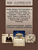 Pacific Western Oil Corporation, a Corporation, Successor in Interest to George F. Getty