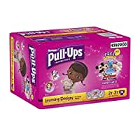 Huggies Pull-Ups Training Pants with Learning Designs for Girls, Size 2T-3T, 74 Count by Pull-Ups