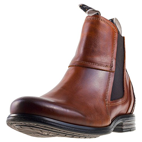 Sneaky Steve Mens Lance Leather Boots Cognac