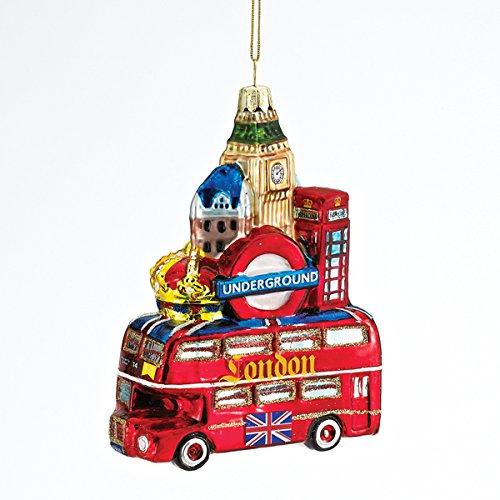 (Kurt Adler Glass London City Ornament, 5-Inch)
