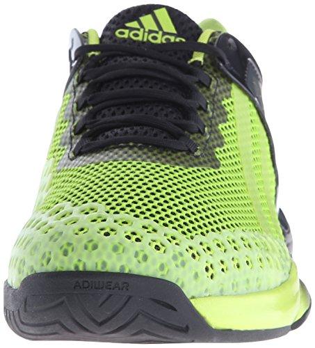 Adidas Performance Heren Adizero Ubersonic Tennisschoen Zwart / Semi Solar Slime / Shock Pink