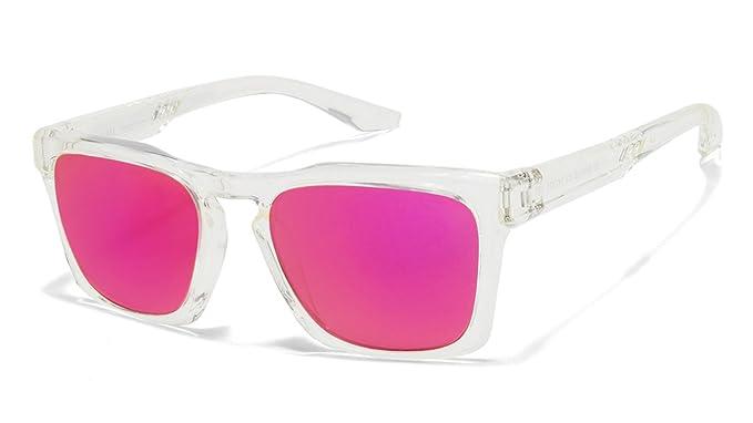 d4521e0499 Image Unavailable. Image not available for. Colour  Vincent Chase NOMADES VC  S10123 Transparent Pink C3 Wayfarer Sunglasses