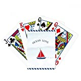 beatChong Sailboat Ocean Love Sea Sailing Blue Poker Playing Card Tabletop Board Game Gift
