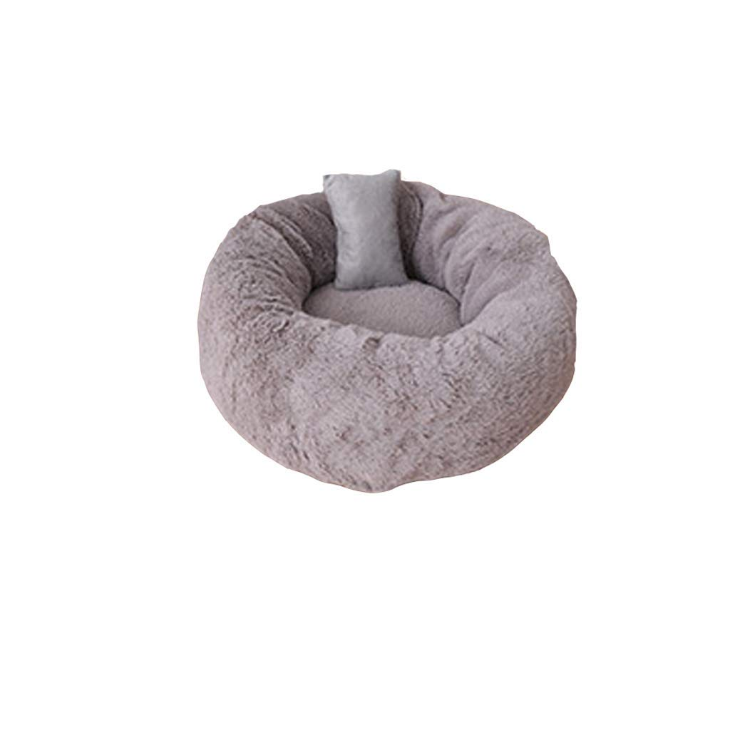M F M F KYCD Cat Litter, Pet Milk Cat Litter Winter Warm Pet Nest Length Plush Teddy Puppy Nest (color   F, Size   M)