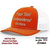 0d03e26b8cdb0e Custom Richardson 112 Hat with Your Text Embroidered Trucker Mesh Snapback  Cap (Adjustable Snapback Split
