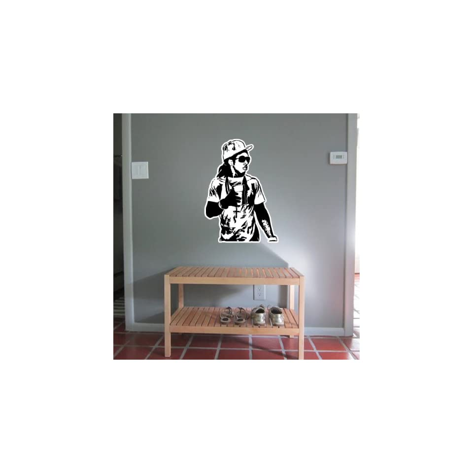 "Lil Wayne BW Young Money Cash Money YMCMB Wall Graphic Decal 25"" x 18"""