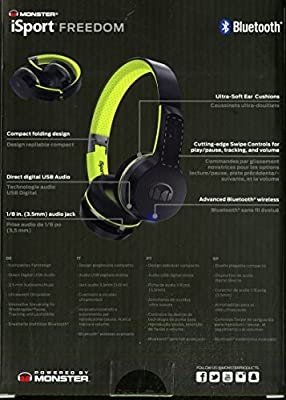 Monster iSport Freedom Bluetooth Wireless On-Ear Headphones-Sports Headphones, Running, Gym Friendly