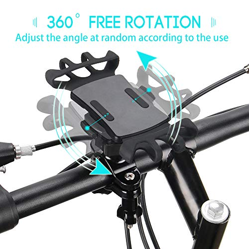 Bike Phone Mount with Quickly Take Off Interface, Leepiya Universal Bicycle Cell Phone Holder Install on Handlebar for iPhone X 8 7 6 5 Plus, Galaxy S9 S8 S7 S6 Plus and All 3.5 to 6'' Mobile Phone/GPS by leepiya (Image #1)