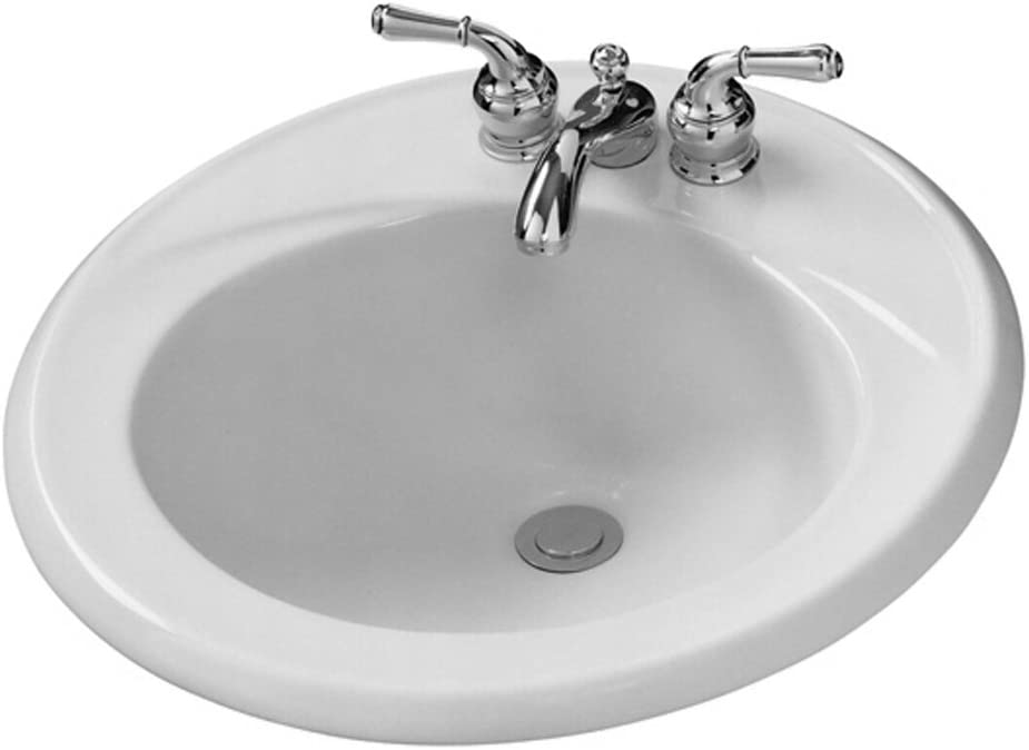American Standard 04490 04us 020 Kentucky 19 Inch Round Lavatory Sink With 4 Inch Center White Bathroom Sinks Amazon Com